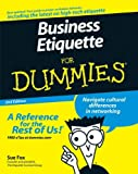 img - for Business Etiquette For Dummies book / textbook / text book