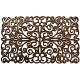 """Home & More 900031830 Scroll Rubber Doormat, 18"""" x 30"""", Bronze"""