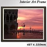 インテリア風景画 額付きアートパネル イタリアベニスの美しい朝焼け