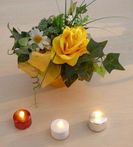 28 x flackerndes Teelicht LED Kerzen Flamme elektrisch