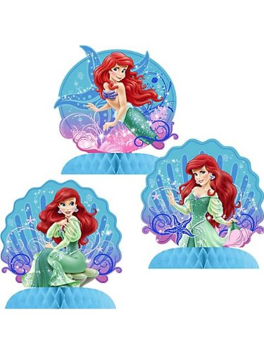 Little Mermaid Sparkle Mini Table Centerpieces - 3 count