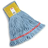 "Rubbermaid Web Foot Wet Mop, 5"" Headband, Blue"