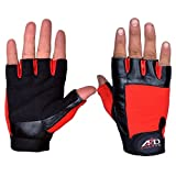 ARD Weight Lifting Gloves Strengthen Training Fitness Gym Exercise Workout Black & Red