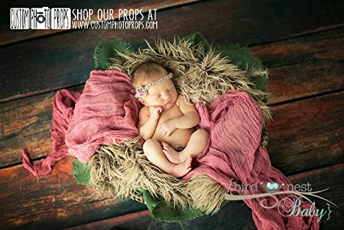 Berry Cheesecloth Newborn Photo Props, Baby Wrap (Swaddling And Hanging Video) Newborn Props, Photography Props, Gauze, Long front-224308