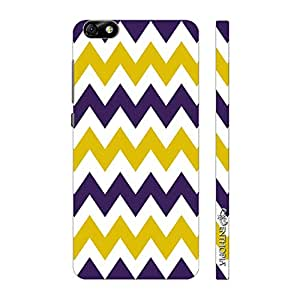 Enthopia Designer Hardshell Case CHEVRON YELLOW AND PURPLE Back Cover for Huawei Honor 4X