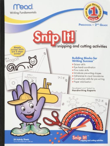 Mead Early Learning Snip It, Stage One, 12 X 9 Inches, 34 Count (54040) front-309274