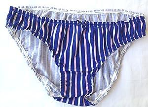 Tommy Hilfiger RH14T025 Women Bikini Ruched, Pixie Stripe, Large