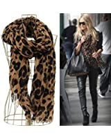 JOVANA Women Fashion Leopard Pattern Animal Print Shawl Scarf Wrap