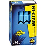 HI-LITER Desk Style, Blue, Box of 12 (24016)