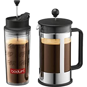 Travel Coffee Maker Press : Amazon.com: Bodum Kenya 8-Cup French Press Coffee Maker with Travel French Press: Bodum Kenya ...
