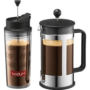 Amazon.com: Bodum Kenya 8-Cup French Press Coffee Maker with Travel French Press: Bodum Kenya ...