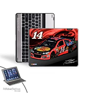 NASCAR Tony Stewart 14 Bass Pro Shops iPad 2 3 Bluetooth Keyboard Case by Keyscaper
