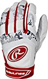 RawlingsYouth Batting Gloves, Small, Scarlet, Small/Scarlet