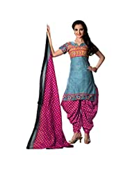 Sonal Trendz Blue Color Pure Cotton Printed Dress Material. - B00ZWXRZ7Q