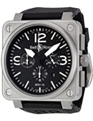 Bell and Ross Black Dial Automatic Chronograph Mens Watch BR0194-BL-ST