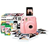 Instax Mini 8 Pink Instant Camera inc 40 Shots