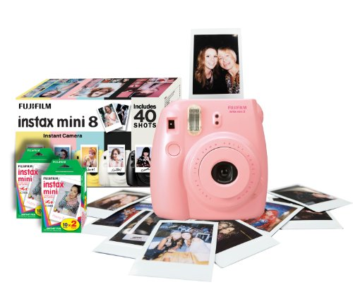 Fujifilm Instax Mini 8 Instant Camera Gift Bundle with 40 Shots - Pink Black Friday & Cyber Monday 2014