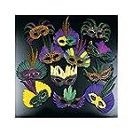 12 Feather Mardi Gras Masks Costume P...