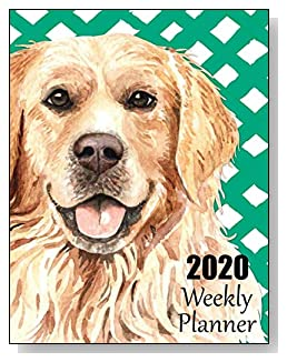 Golden Retriever 2020 Dated Weekly Planner - A fun canine-themed planner to help any dog lover stay organized and keep track of activities on a daily, weekly, and monthly basis from January to December 2020.