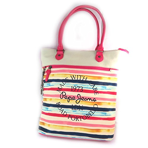 Shopping bag 'Pepe Jeans'multicolore - 37x32x11 cm.