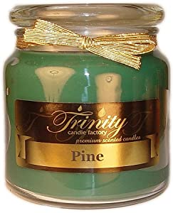 Trinity Candle Factory -Pine - Traditional - Soy Jar Candle - 18 oz