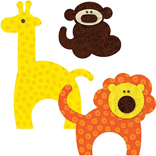 Go! This & That Fabric Cutting Dies-Go! Zoo Animals front-2816