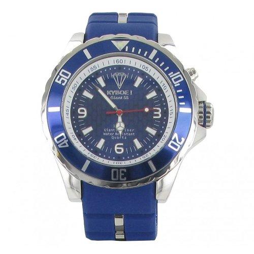 Kyboe! Men's Watch Analogue Quartz Rubber Blue KY-008