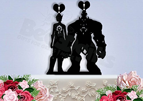 WoW Custom made Wedding Cake Toppers. Please read Instructions.