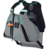 Kayak Pfd High Back Onyx MoveVent Dynamic Life Vest (Grey/Turquoise, XL/2XL)