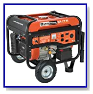 DuroMax Elite MX4500E 4500 Watt 7 HP OHV 4-Cycle Gas Powered Portable Generator With Wheel Kit & Electric Start