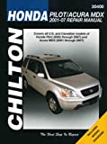 img - for Honda Pilot & Acura MDX: 2001 through 2007 (Chilton's Total Car Care Repair Manuals) book / textbook / text book