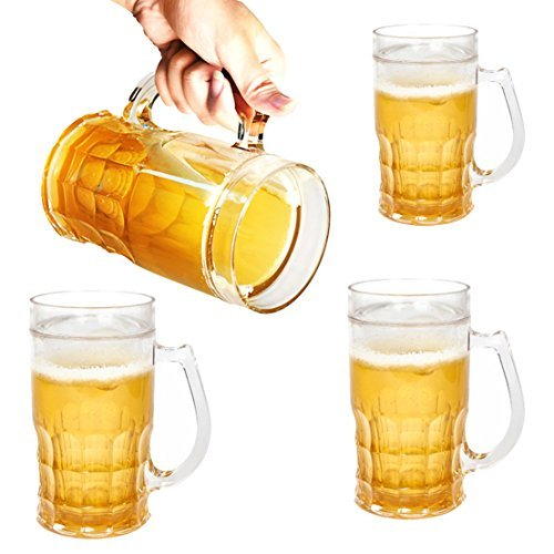 Set Of 4 Evri 13oz Plastic Insulated Funny Chill'R Beer Mugs Glasses For Freezer Novelty Silly (Funny Beer Stein compare prices)