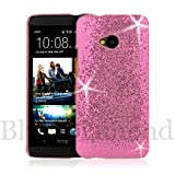 HTC ONE Sweet Pink Glitter case / Skin / Shell / Cover. Free Screen Protector