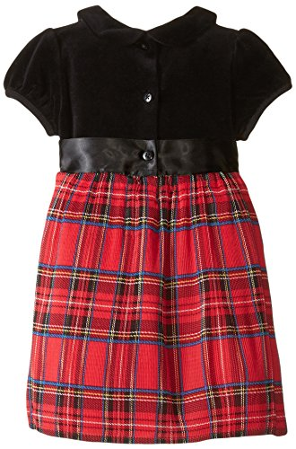 Little me baby girls plaid dress and panty red plaid 24 months