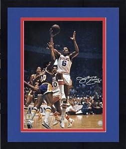 Framed Philadelphia 76ers Julius Erving Autographed 16
