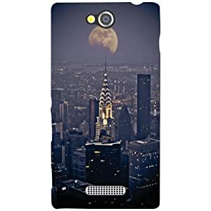 Sony Xperia C Back Cover - City In Night Life Designer Cases