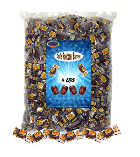 Dad's Root Beer Barrels 4 Lbs Washburn Individually Wrapped Old Fashioned Candy (Dads Root Beer Barrels compare prices)