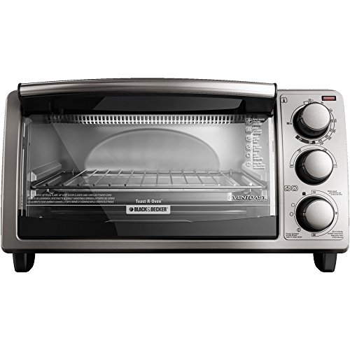 Black & Decker 4-Slice Stainless Steel Countertop Convection Toaste-R-Oven- Silver (Toaster Oven Mount Under Cabinet compare prices)
