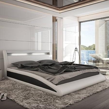 Innocent Polsterbett weiß / schwarz mit Kunstleder Bezug Balisani 200x200 cm