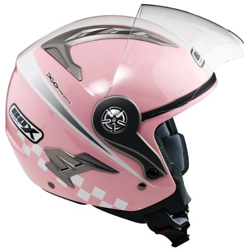 OXFORD JZ-1 OPEN FACE SCOOTER MOTORCYCLE HELMET PINK, SMALL