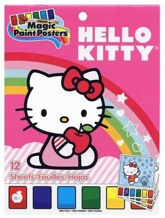 "Hello Kitty Magic Paint Poster Book ~ 12 Posters (6"" x 8"") - 1"