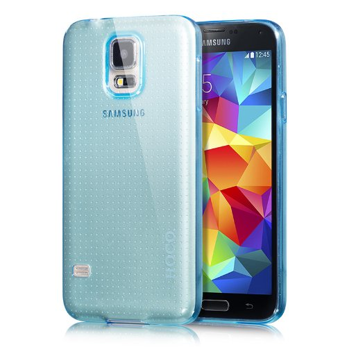Moon Monkey Ultra-Thin Slim Transparent Back Cover Simple Case For Samsung Galaxy S5 (Blue)