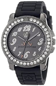 Juicy Couture Women's 1900794 Pedigree Black Jelly Strap Watch