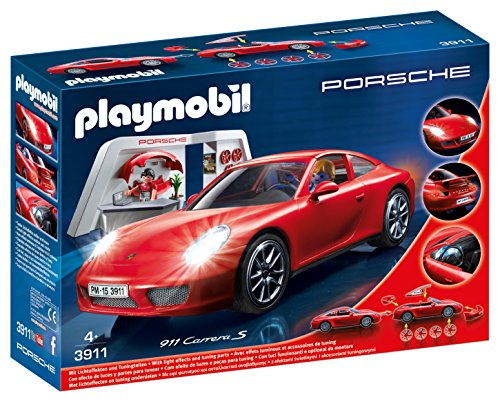 Playmobil 3911 Porsche 911 Carrera S with Lights and Showroom
