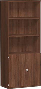 Mobili armadio modulare 5OH, 1+ 2. Oh con cornice e ante in legno, chiudibile, 1920x 800x 425, noce