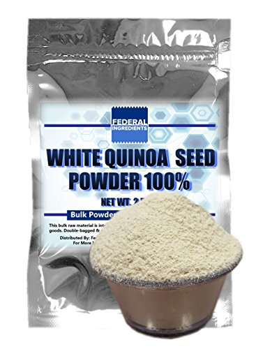 WHITE QUINOA POWDER 100% - 2.5 Ounce (70 Grams) Lab Grade Sample - Made in the USA by Federal Ingredients - aka organic quinoa flour organic quinoa flour gluten free (Sprouted Grain Bread Cookbook compare prices)