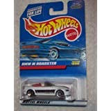 1997 Mattel Hot Wheels Bmw M Roadster Convertible White & Black 3 Spoke 1:64 Scale Die Cast Metal Out Of Production...
