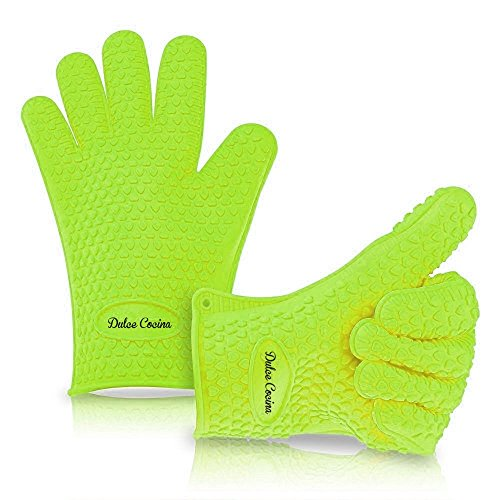 Best Grill Gloves and Mittens Come in XLarge and Regular Size - The Only Kitchen Mits with 100% Life-time Happiness Guarantee!