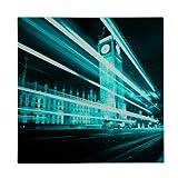Premier Housewares London Big Ben Glass Print - 60 x 60 cm