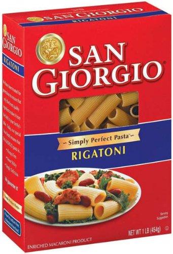 San Giorgio Rigatoni Pasta 16 oz (Pack of 12)